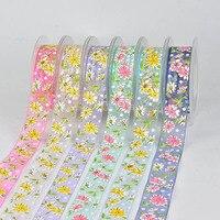 Christmas Ribbons Festive Decoration Ribbons DIY Hair Ribbon Lace Clothing Accessories Material Gift Packaging Printing Ribbon