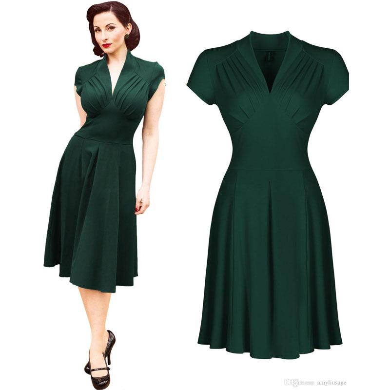 Rockabilly S Vintage Swing Party Dress Women Evening Retro Style 1950 1950s Size