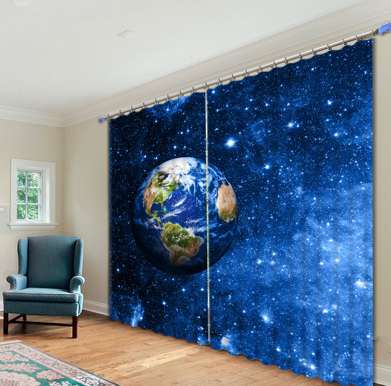 Wallpaper For Living Room 3d Out Space 3d Galaxy Universe Blackout Curtains For Living