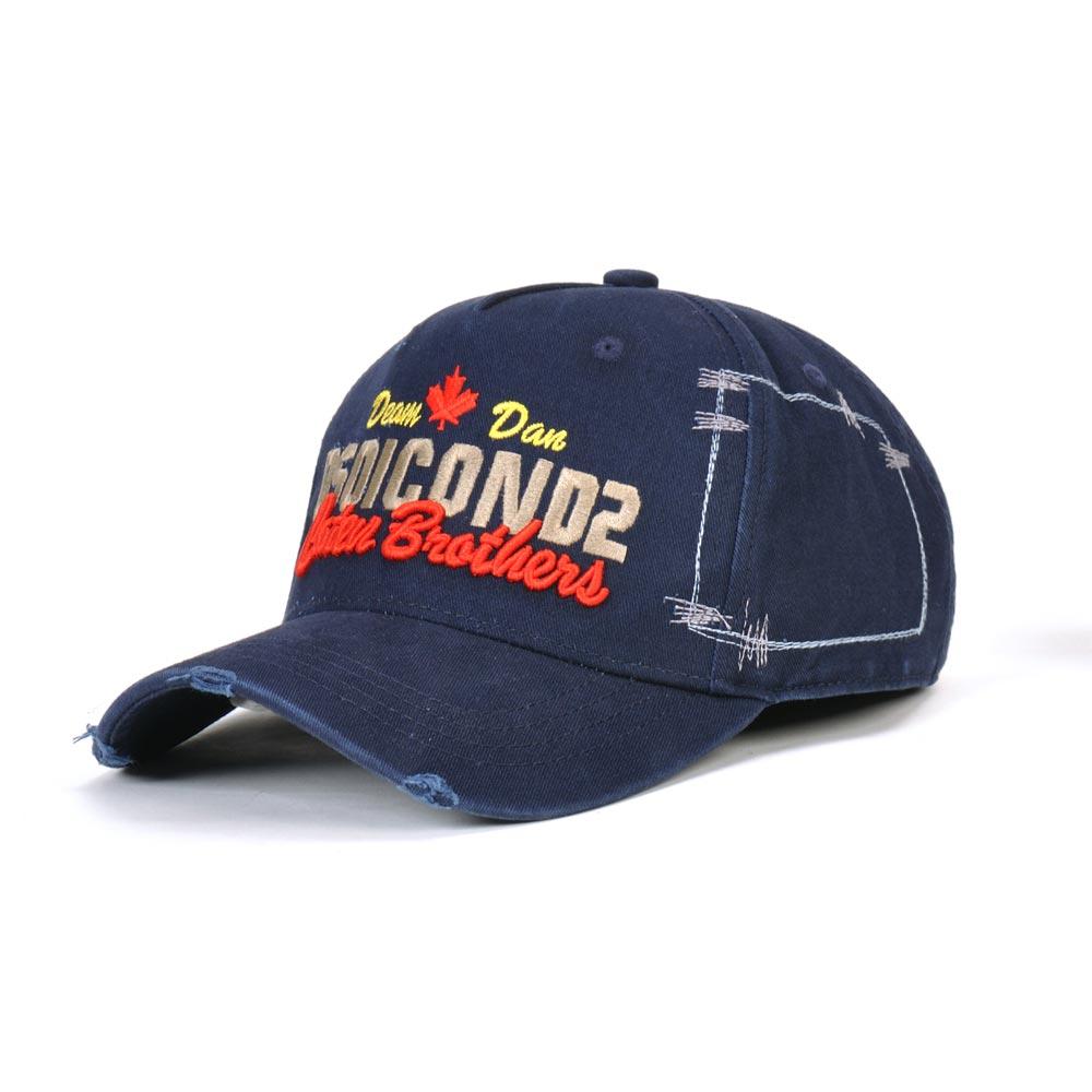 DSQICOND2 Baseball-Cap Navy-Blue Cotton-Caps Black White Women Adjustable Casquette Dad-Hat