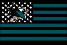 San Jose Sharks USA star stripe NHL Premium Team Hockey Flag 3X5FT