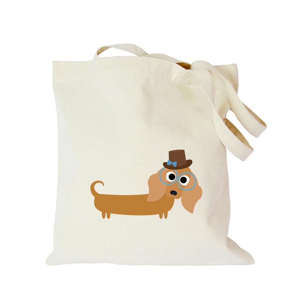 2019 Pet dog series canvas bag customized eco custom tote bag custom made shopping bags with logo Dachshund Shepherd Dog Poodle (1)