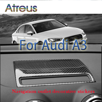 Atreus Car styling Carbon Fiber Dashboard Navigation Decorative GPS Trim Stickers For Audi A3 8V 8p 8l 2012 2017 Accessories
