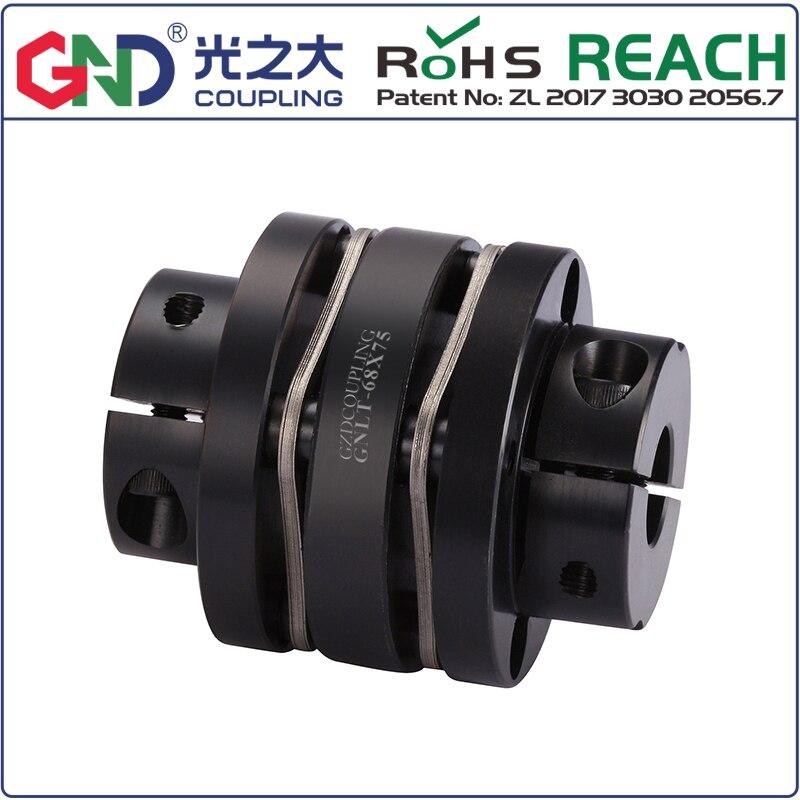 GNLT 45# Steel Stepped Double Diaphragm Clamp Series 45# Steel shaft couplings D19mm , L27mmGNLT 45# Steel Stepped Double Diaphragm Clamp Series 45# Steel shaft couplings D19mm , L27mm
