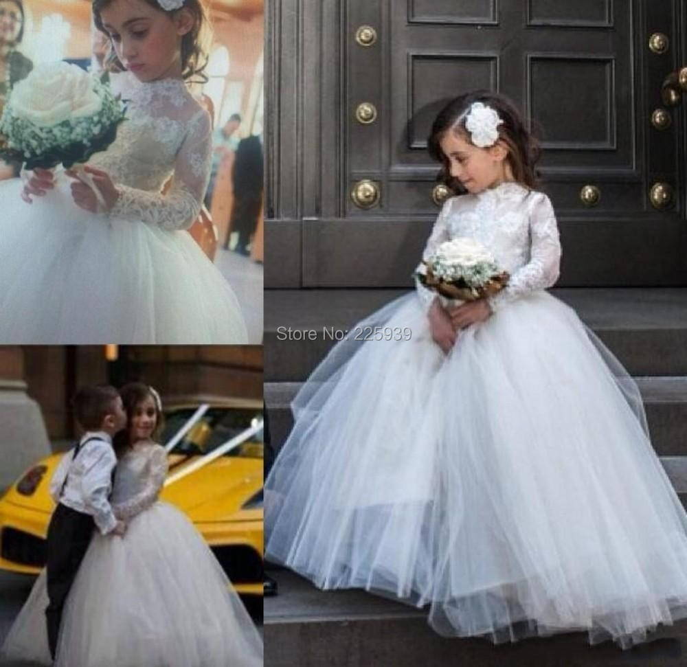 Perfect ball gown flower girl dresses formal for wedding party perfect ball gown flower girl dresses formal for wedding party long gowns beautiful lace long sleeves little girl dresses in flower girl dresses from ombrellifo Choice Image