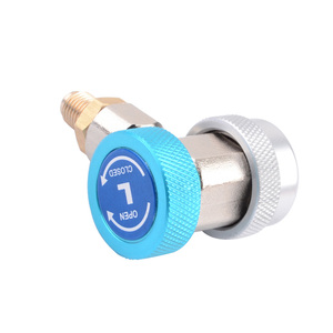 Image 4 - 1Pair Auto Air Condition Adjustable Conditioning Refrigerant Car Auto Freon R134A High Low Auto Adapter Connector Quick Coupler