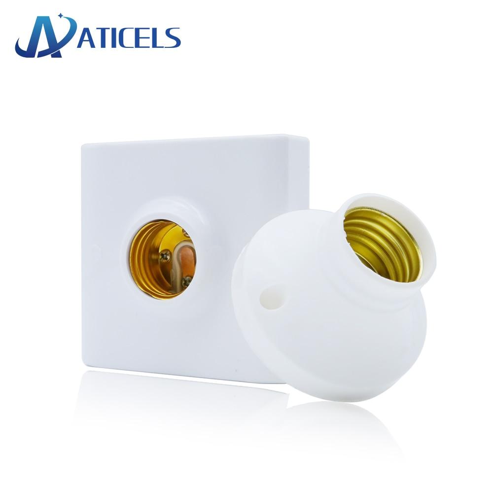 1PCS Screw Lamp Base E27 E14 Lamp Holder Light Bulb Socket Holder Adapter