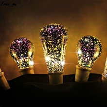E27 ST64 Colourful 3D Star Shine Decoration Multiple Reflection Alluminum Plated Glass