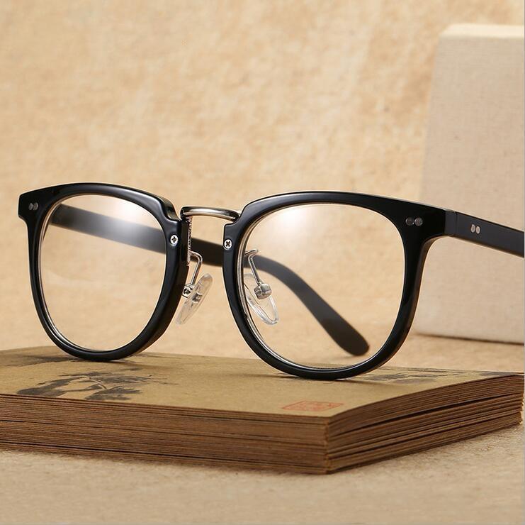 Vintage Retro Eyeglasses Frames  Rivet Eye Glasses Frame With Clear Lens Oversized Oculos De Grau