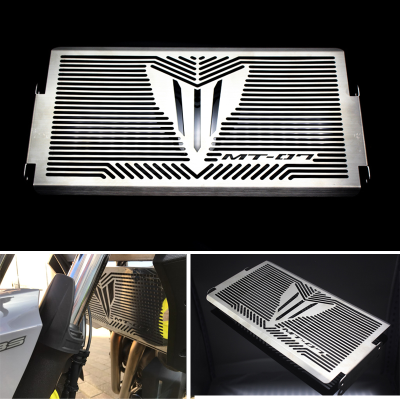 Motorcycle Radiator Grille Guard Cover Protector For YAMAHA MT07 XSR700 MT-07 MT 07 XSR 700 2014 2015 2016 2017 Free shipping 2017 new black motorcycle radiator grille guard cover protector for yamaha mt07 mt 07 mt 07 2014 2015 2016 free shipping
