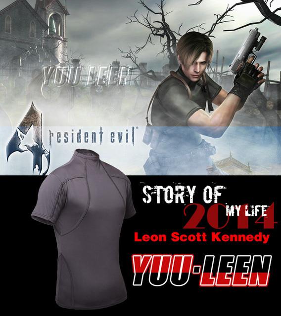 El correo nuevo paquete 2017 juego Resident Evil Lyon Camiseta cosplay táctico T-shirt