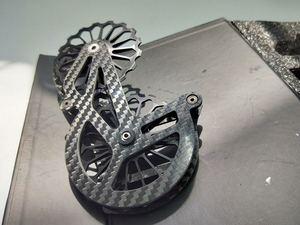 Image 5 - 17T 自転車セラミックベアリング炭素繊維ジョッキープーリーホイールセットリアディレイラーガイドホイールシマノ硬膜エース/ アルテグラ