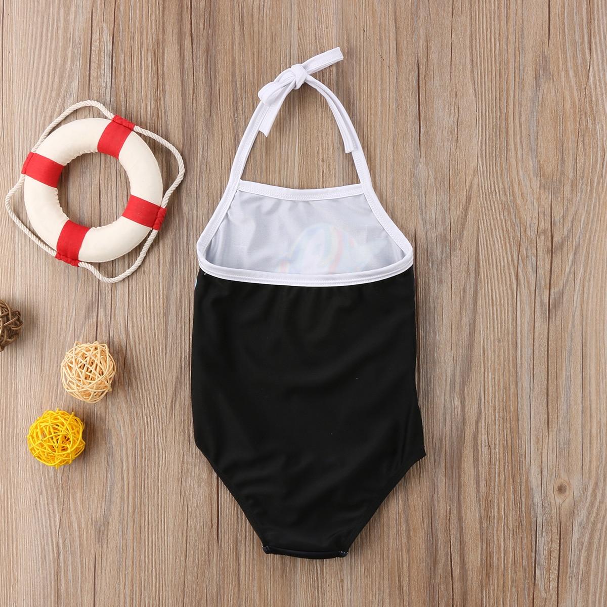 Cartoon Unicorn Baby Girls Swimwear One pieces Bodysuit for children Girls Swimsuit Beachwear Summer Bathing suit for girls