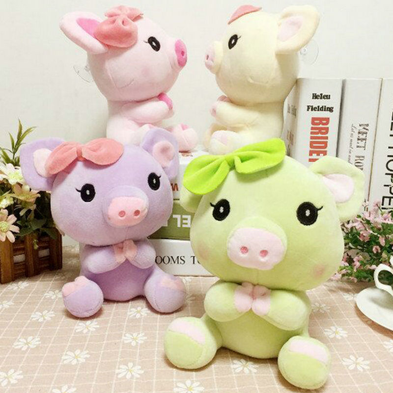 New Cartoon Pig Plush Doll Toy Stuffed Animal Pink Pig Doll Kids Baby Brinquedos Toys Kawaii Gift Toy 20cm