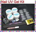 UC--132 Pro Акриловые УФ Гель Французский Nail Art Ложные Совет DIY Kit Набор
