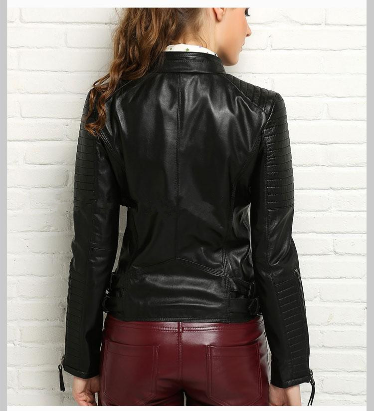 100% Real Sheepskin Coat Female Genuine Leather Jacket Short Slim Jackets For Women Outerwear 13