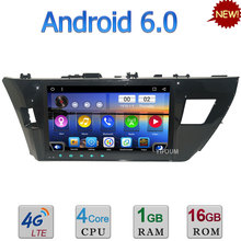 10.1″ Quad-Core Android 6.0 3G 4G WIFI DAB RDS USB Car DVD Multimedia Player Screen Radio For Toyota Corolla 2014 2015 2016 2017