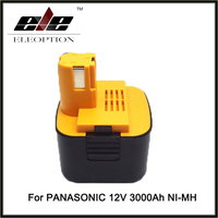 New 12V NI MH 3.0Ah Replacement Power Tool Rechargeable Battery for Panasonic EY9101 EY9200 EY9200B EY9201 EY9001 EY9108 EY9201B