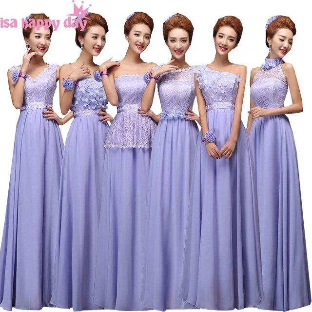 b0f36810f Luz púrpura Lila corsé de dama de honor formal dama vestidos de fiesta largo  bridsmaid o