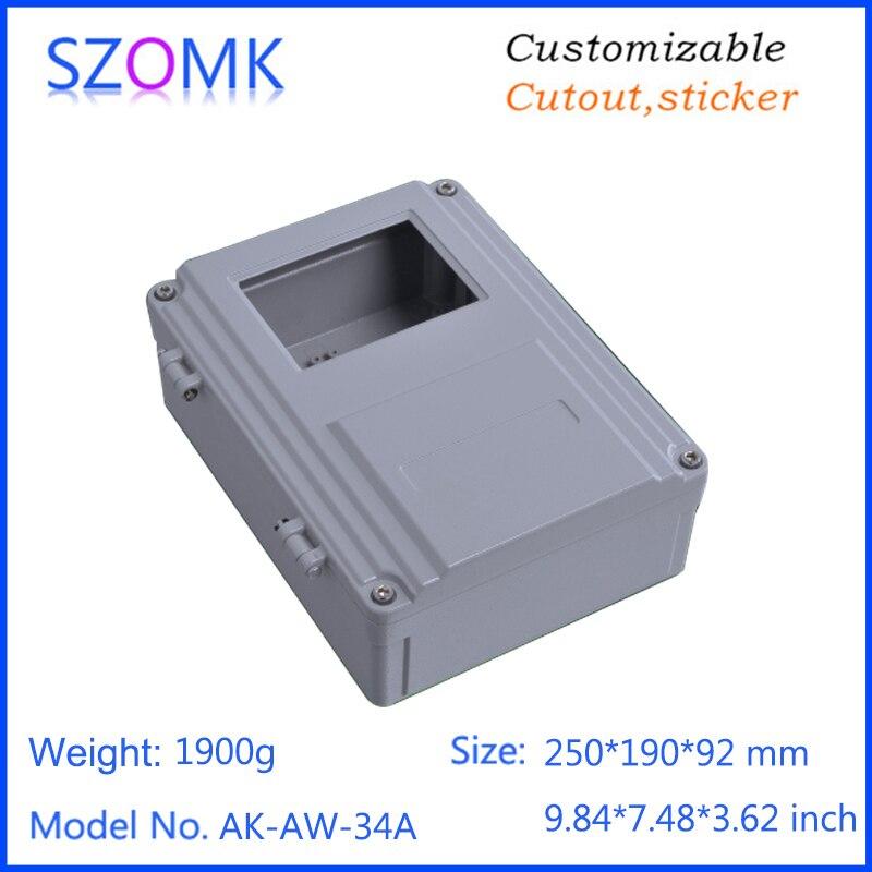 1 pièce, 250*190*92mm vente chaude en aluminium moulé sous pression boîtier de contrôle de boîtier électronique boîtier en aluminium étanche