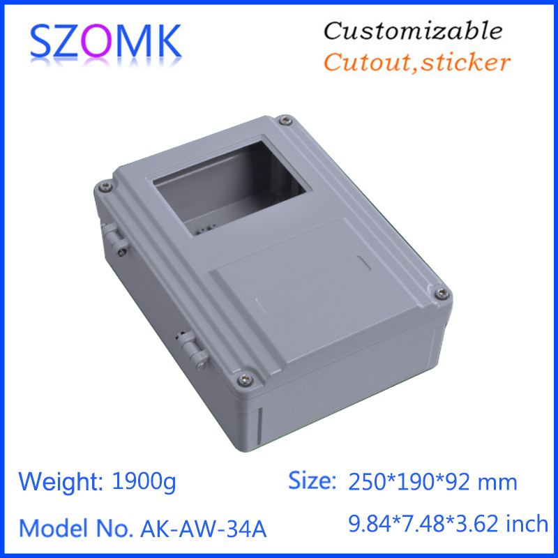 1 piece, 250*190*92mm hot selling die casting aluminum electronic enclosure control housing case waterproof aluminum enclosure 1 piece 250 190 92mm hot selling die casting aluminum electronic enclosure control housing case waterproof aluminum enclosure