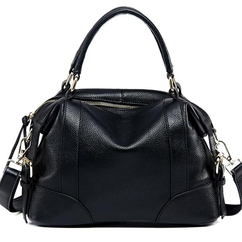 Chu JJ Women's Genuine Leather Handbags Luxury Leather Women Tote Bags Women Messenger Bags Ladies Shoulder Crossbody Bag
