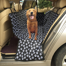 Car Pet Carriers Oxford Fabric Paw Pattern Pet Seat Cover Dog Car Back Seat Carrier Waterproof Pet Mat Hammock Cushion Protector pet carriers oxford fabric pet car seat cover dog car back seat carrier waterproof pet mat hammock cushion protector