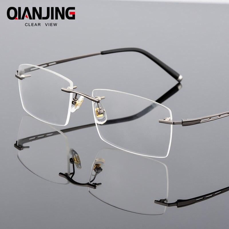 9d438b03d7 QianJing New Alloy Frameless Myopia Spectacle Glasses Optical Eye Glasses  Frames Prescription Eyewear Eyeglasses Frame-in Eyewear Frames from Apparel  ...