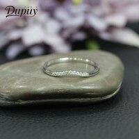 Дюпюи Новый Обручение кольца для Для женщин 14 К белого золота витой нерегулярные алмаз обручальное кольцо Модные пара подарок ювелирных из