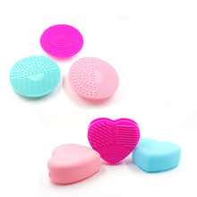 Hot Sale 2PC Silicone Egg Cleaning Glove with Brush Mat Makeup Washing Drying Racks Scrubber Tool Cleaner