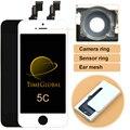 10 unids no pixel clon teléfono móvil lcd para iphone 5c con pantalla táctil digitalizador asamblea reemplazo envío gratis negro