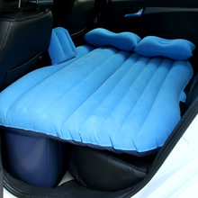 Car travel bed camping inflatable sofa multi-function bed rear seat rest cushion cushion sleeping pad with pump accessories(China)