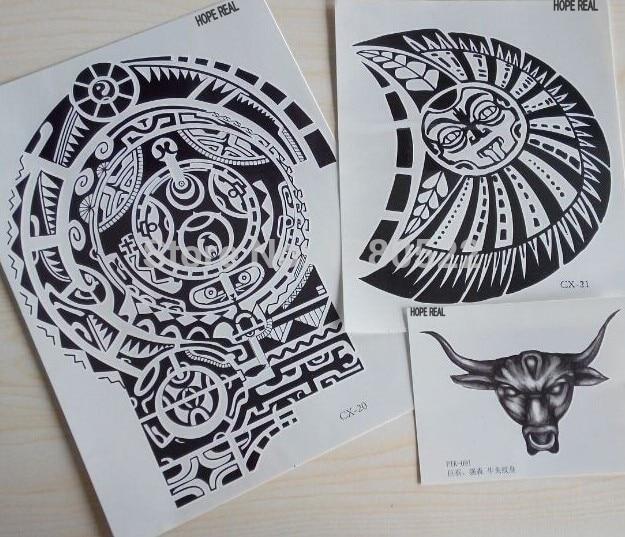 3 lembar Tatuagem Dwayne Johnson Star 3D Ukuran Besar Besar Stiker Tato Temporer untuk Pria Dada dan Bahu Tato