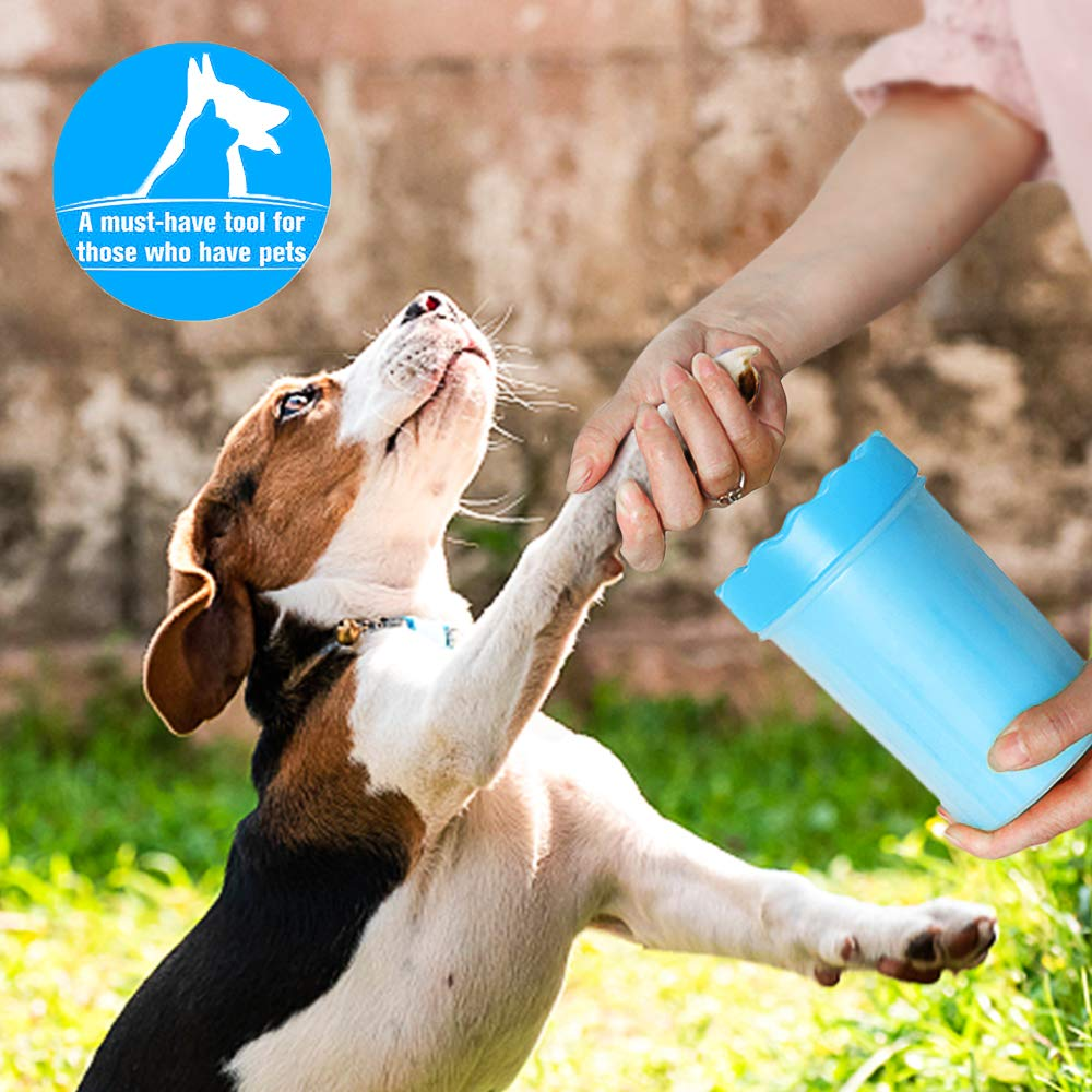 Dog Cat Paw Cleaner Cup Soft Silicone Combs Paw Portable Pet Foot Washer Cup Paw Clean