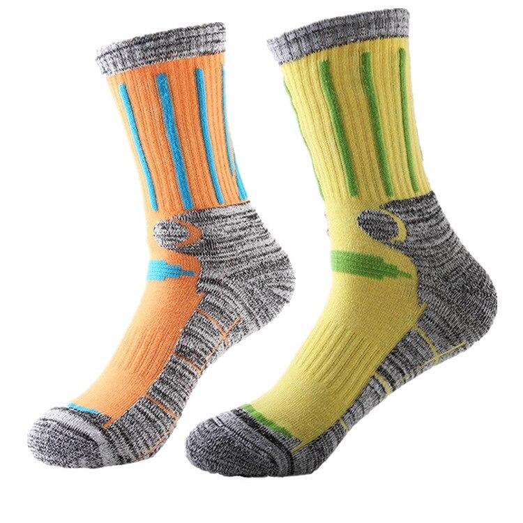 R-Bao 2 Pairs / Lot Outdoor Hiking Socks Men Women Warm Cotton Snow Skiing Trekking Mountaineering Running Sports Socks W15