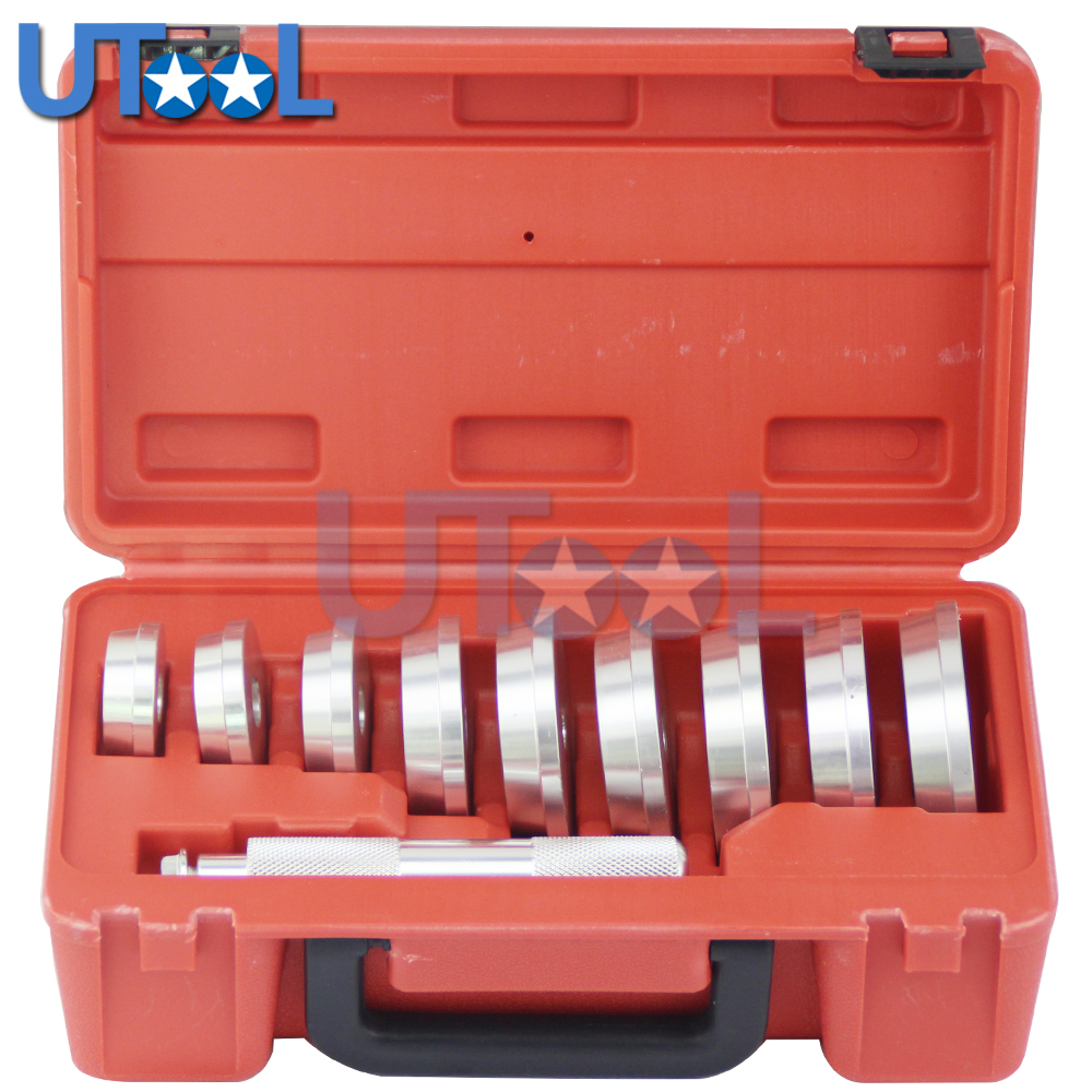 UTOOL Professional Universal 10PCS Bearing Installer & Remover Bearing And Seal Drive Tool Set цена