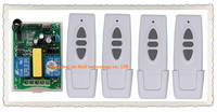 AC 220V Wireless Remote Control Switch 1pcs Receiver 4pcs Transmitter Tubular Motor Forward And Reverse