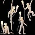 Современная 7 цветов Лампа в форме обезьяны  светодиодные светильники  украшение  подвесные светильники  прикроватная тумбочка для спальни ...