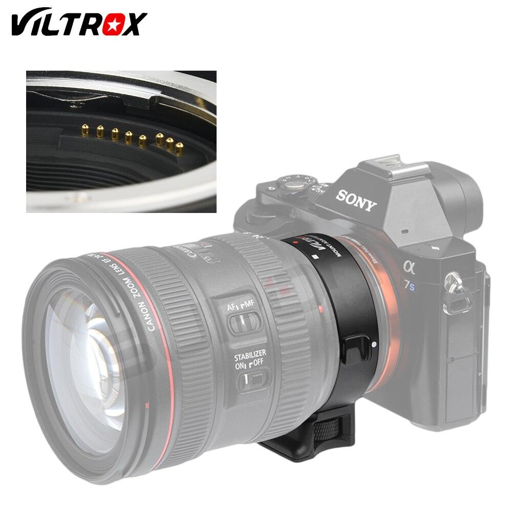 Viltrox EF-NEX IV Autofocus Camera lens Adapter Ring pour Canon EOS EF EF-S lens Mount adapter pour Sony E NEX Plein Cadre A6000 A7