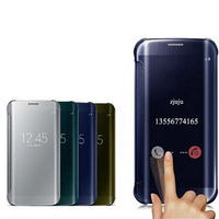 Clear View Window Smart Cover For Samsung Galaxy S7 S7 Edge Capa Case UV Mirror Screen