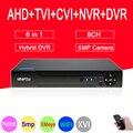 Сетевой видеорегистратор Dahua Панель XMeye H.265 + Hi3521D 5MP 8CH 8-канальный сетевой видеорегистратор видеонаблюдения Регистраторы гибридный 6 в 1 TVI CVI ...