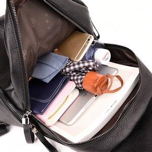 Image 5 - 2019 di Marca Dellannata Delle Donne di Cuoio Zaino Per Le Ragazze Sac a Dos di Gusto Squisito sacchetto di Scuola Femminile Zaino Grande Capacità di Viaggio Bagpack Nuovo