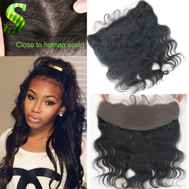 Brazilian Body Wave Lace Front Frontal Piece Full Frontal Lace Closure 13x4  Ear To Ear Lace Frontal With Baby Hair Bleached Knot 91f9a4425
