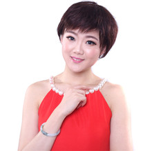 Top quality natural short silky straight unprocessed Human Bob Wigs 7A Virgin Brazilian Hair  Wigs With Bangs