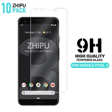 10 Pcs/Lot 2.5D 0.26mm 9H Premium Tempered Glass For Google Pixel 3 5.4 inch Screen Protector protective film