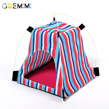 1PC Pet Cat House Soft Stripe Camouflage Dog Tent Kennel Cloth Mat Nest For Small Medium Tools