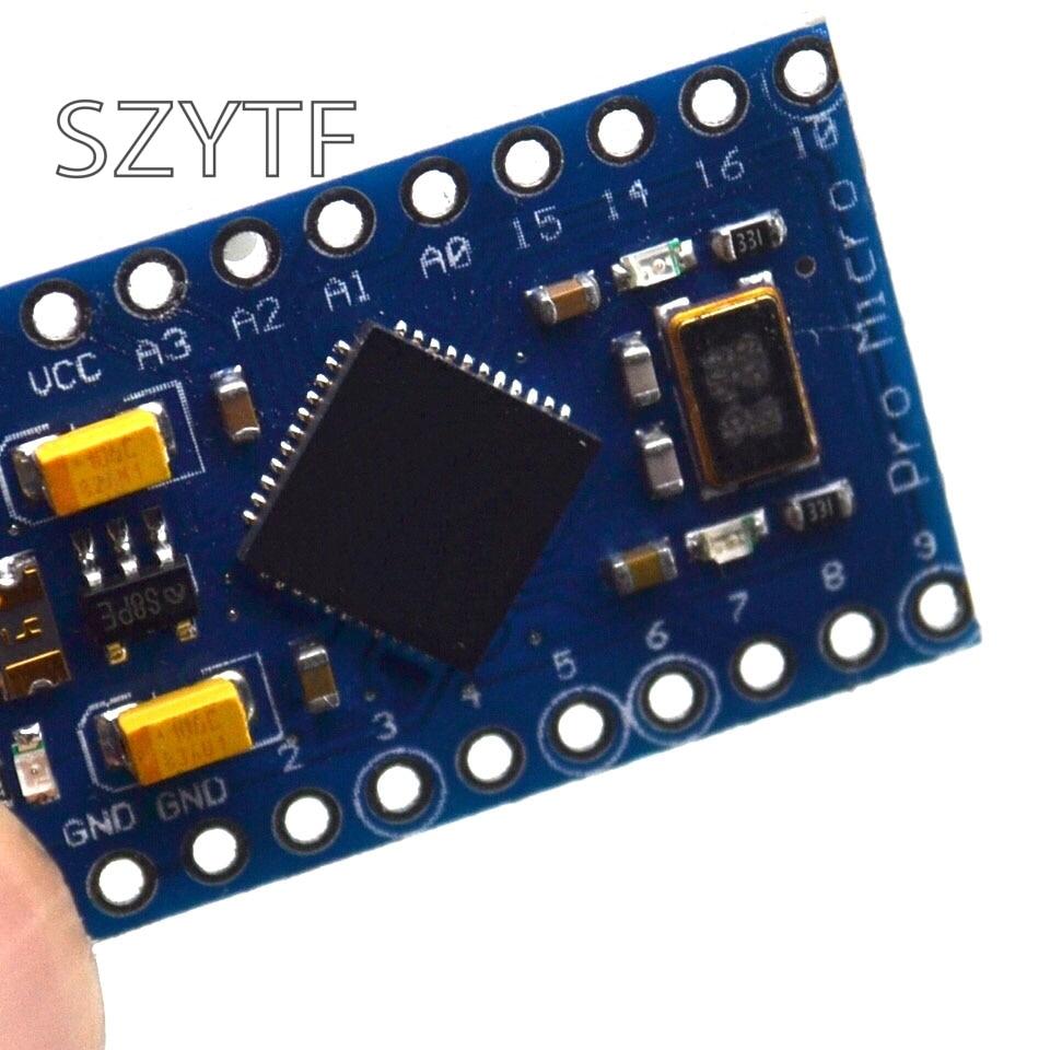 New Pro Micro ATmega32U4 5V/16MHz Module With 2 Row Pin Header For Leonardo 1PCS