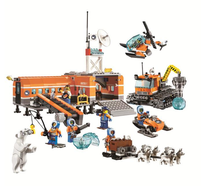 783pcs 10442 Arctic Base Camp Model Building Blocks kids Educational Brick gift Toys Compatible Lepin City 60036 For Children bela 10442 city arctic base camp model building kits compatible with lego city 3d blocks educational toys hobbies for children