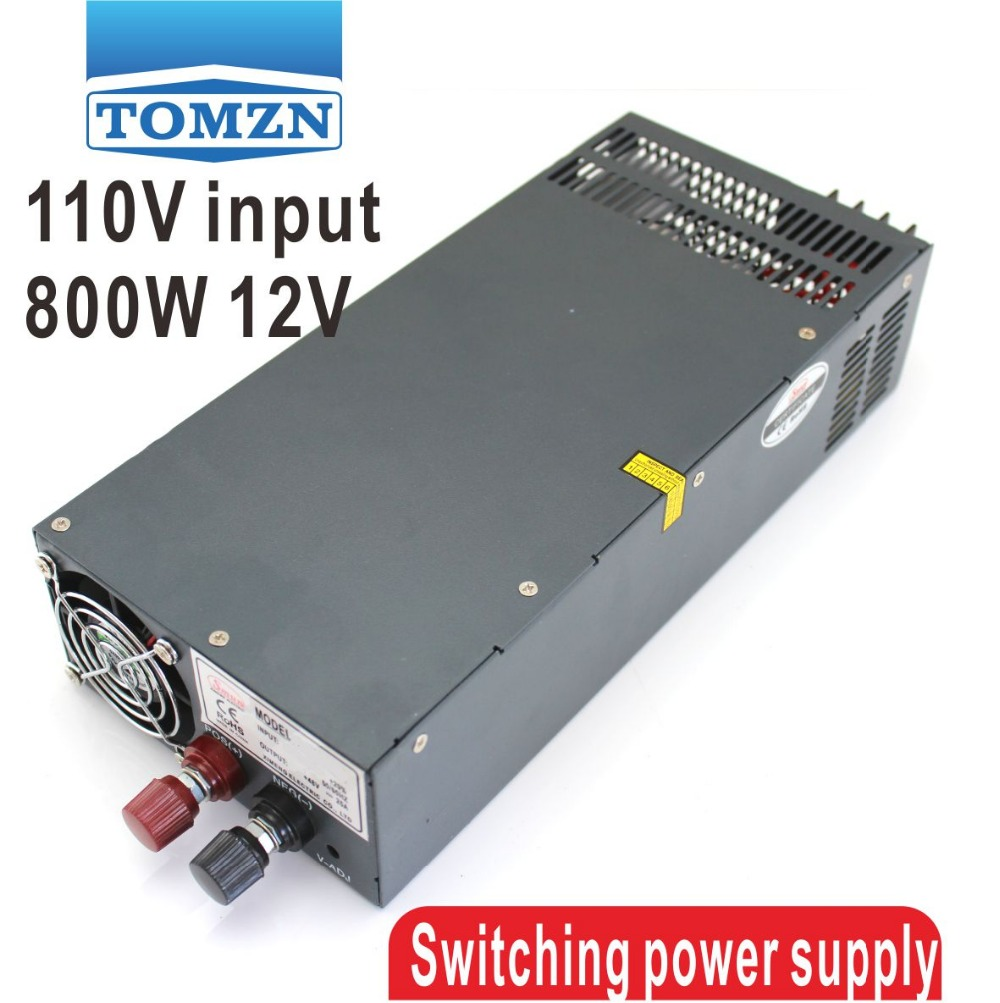 800W 0V TO12V 66A 110V INPUT Single Output Switching power supply for LED Strip light AC to DC800W 0V TO12V 66A 110V INPUT Single Output Switching power supply for LED Strip light AC to DC