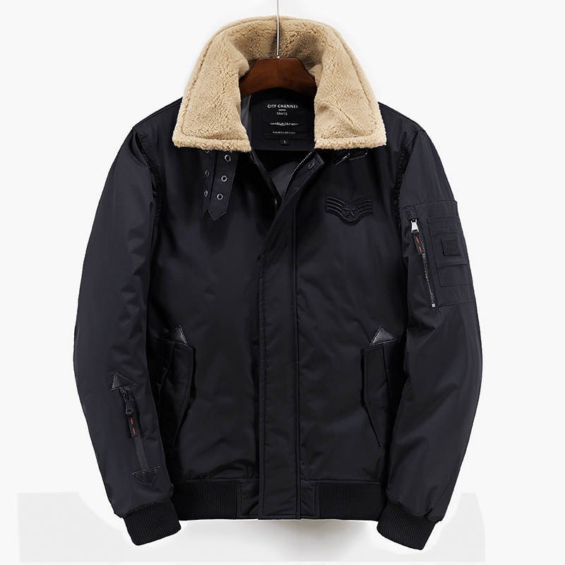 Fashion Mens Winter Jacket Fur Collar Design Thick Warm Popular Outwear Casual Jackets Men Coat Cotton Parkas Size M-XXL